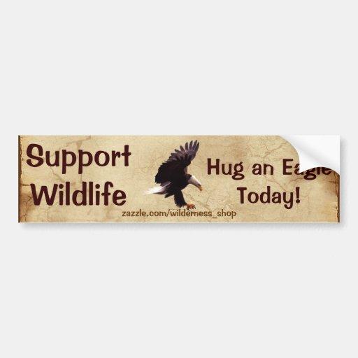 BALD EAGLE Landing Wildlife Support Bumper Sticker