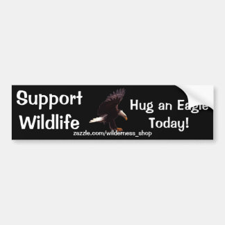BALD EAGLE Landing Wildlife Support Bumper Sticker Car Bumper Sticker