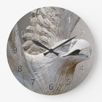 Bald Eagle Large Clock