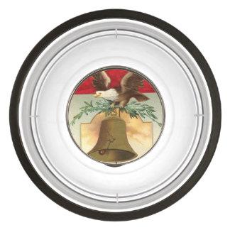 bald eagle liberty bell patriotic vintage art bowl