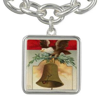bald eagle liberty bell patriotic vintage art bracelets