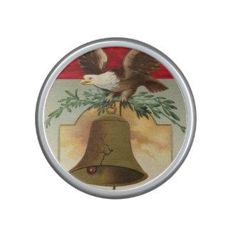bald eagle liberty bell patriotic vintage art speaker