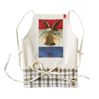 bald eagle liberty bell patriotic vintage art zazzle HEART apron
