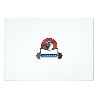 Bald Eagle Lifting Kettleball Barbell Circle Retro Card