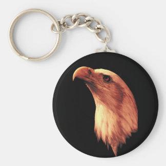 Bald Eagle Looks Up Keychains