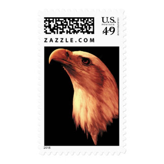 Bald Eagle Looks Up Postage Stamps