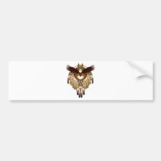 Bald Eagle Mandala - revised Bumper Sticker