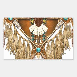 Bald Eagle Mandala - revised Rectangular Sticker