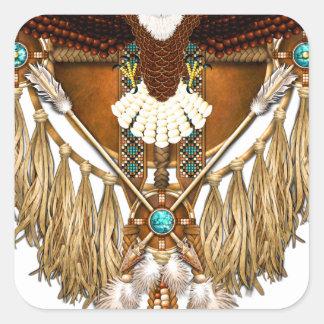 Bald Eagle Mandala - revised Square Sticker