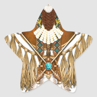 Bald Eagle Mandala - revised Star Sticker