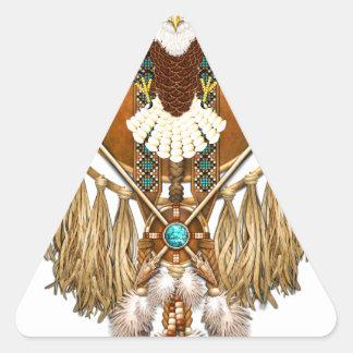 Bald Eagle Mandala - revised Triangle Sticker