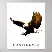 Bald Eagle Motivational Confidence Art Posters
