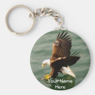 Bald Eagle Motivational Gift Basic Round Button Keychain