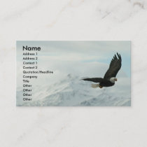 Bald eagle & mountains business card