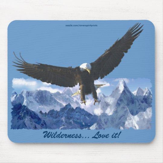 BALD EAGLE & Mountains Wilderness Mousepad