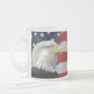 BALD EAGLE-MUG 10 OZ FROSTED GLASS COFFEE MUG