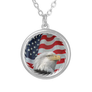 BALD EAGLE-NECKLACE SILVER PLATED NECKLACE