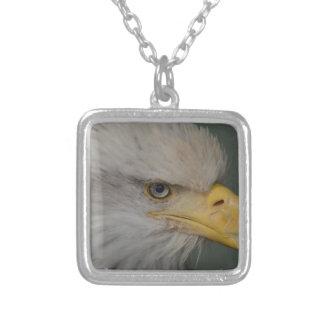 Bald Eagle of Alaska U.S.A. Silver Plated Necklace