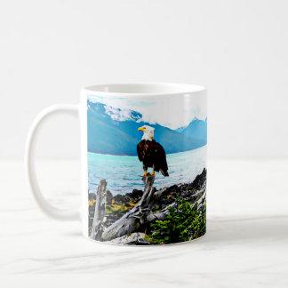 Bald Eagle On Alaska Coast Coffee Mug