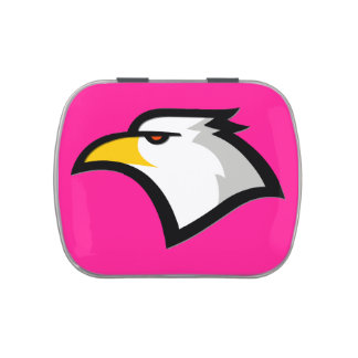 Bald Eagle on Hot Pink Jelly Belly Tin