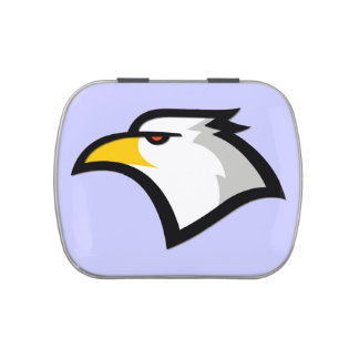 Bald Eagle on Lavender Blue Jelly Belly Tin
