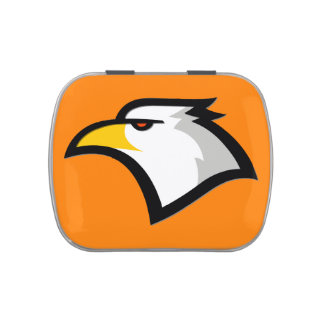 Bald Eagle on Orange Jelly Belly Tin