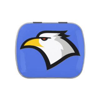 Bald Eagle on Royal Blue Jelly Belly Tin