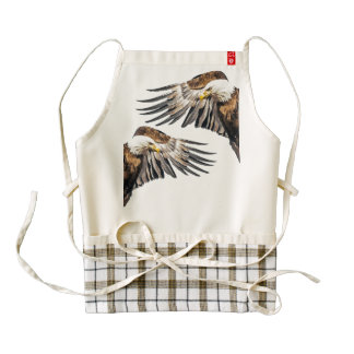 Bald Eagle on the Wing Zazzle HEART Apron