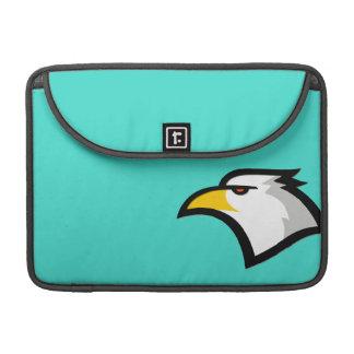Bald Eagle on Turquoise Green MacBook Pro Sleeve