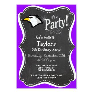 Bald Eagle on Violet Purple Card