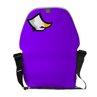 Bald Eagle on Violet Purple Messenger Bag