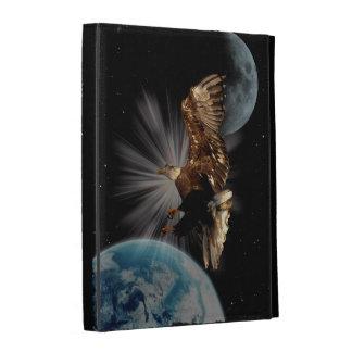 Bald Eagle Outer Space Fantasy iPad Folio Cases