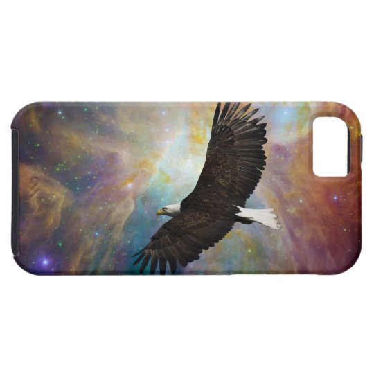 Bald Eagle & Outer Space Motivational iPhone 5 iPhone SE/5/5s Case