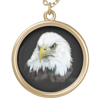 Bald Eagle  Painting Necklace
