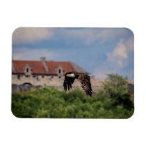 Bald Eagle passing Fort Ticonderoga Magnet