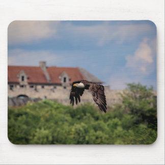 Bald Eagle passing Fort Ticonderoga Mouse Pad