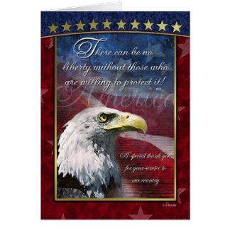 Bald Eagle Patriotic Thank You Card