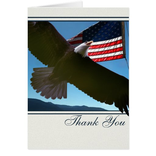 Bald Eagle Patriotic Thank You Greeting Cards