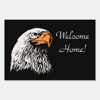 Bald Eagle Patriotic Yard Sign