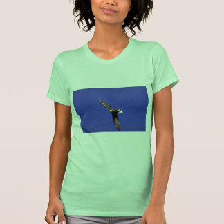 Bald Eagle performing wing-over in full flight T-shirt