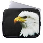 Bald Eagle Photo on Black Laptop Sleeve Cases