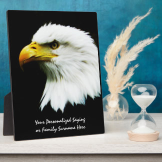 Bald Eagle Photo on Black Plaque