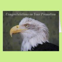 Bald Eagle Photo Promotion Congratulations Card