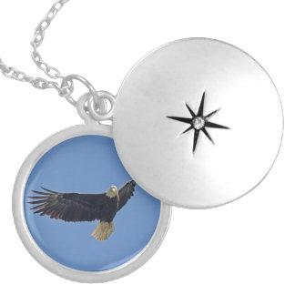 Bald Eagle Photo Round Locket Necklace