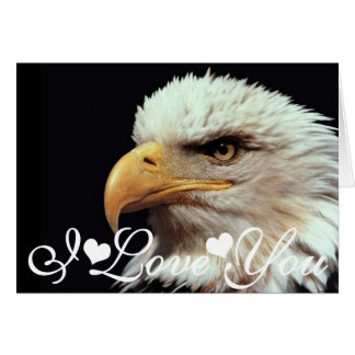 Bald Eagle Photograph Image I Love You Card