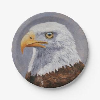 Bald Eagle Portrait Paper Plate