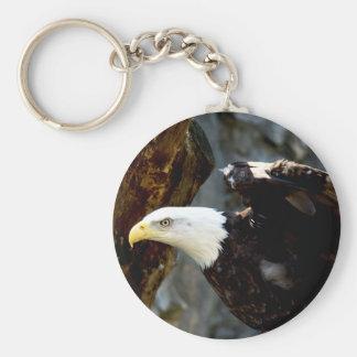 Bald Eagle Pose Keychain