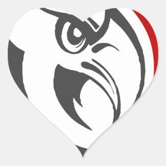 Bald Eagle Pride Heart Sticker