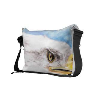 Bald Eagle Profile Messenger Bag