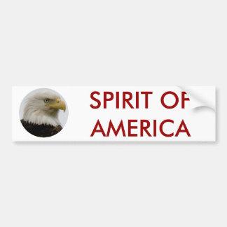 Bald Eagle Profile Photo on Unalaska Island Car Bumper Sticker